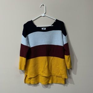 Old Navy color blocked sweater
